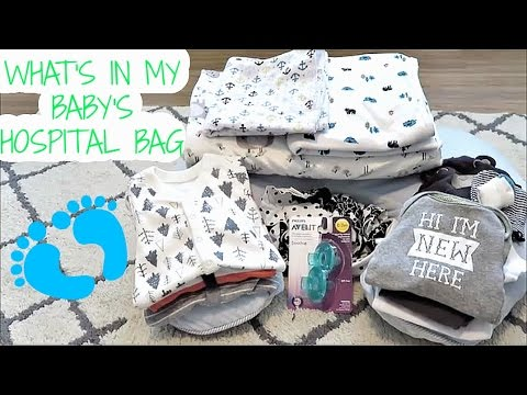 WHAT'S IN BABY'S HOSPITAL BAG!? - 9 Months Pregnant