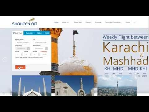 Shaheen Air Online Reservation Tutorial