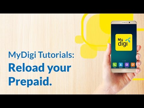 Reload your Digi Prepaid™ with the new MyDigi app.