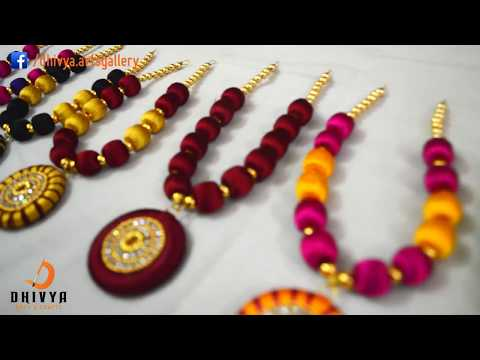 how to make Silk Thread necklace at Home | silk thread jewellery making | DIY