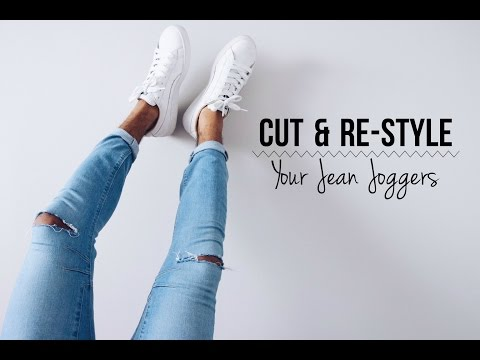 CUT & RE-STYLE YOUR JEAN JOGGERS | DIY TUTORIAL | DemTheCeleb