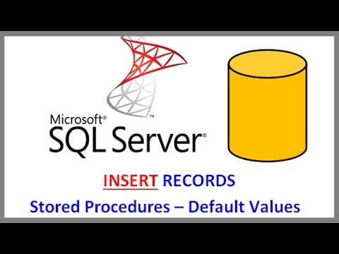 SQL Server - INSERT RECORDS INTO TABLE VIA STORED PROCEDURE AND DEFAULT VALUES