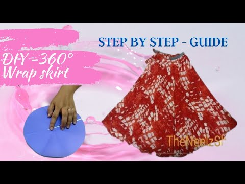 DIY | Full circular wrap skirt | Easy to make with Saree | Very easy steps