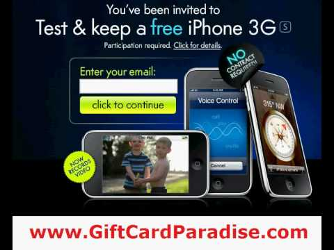 Test and Keep a Free iPhone 3Gs