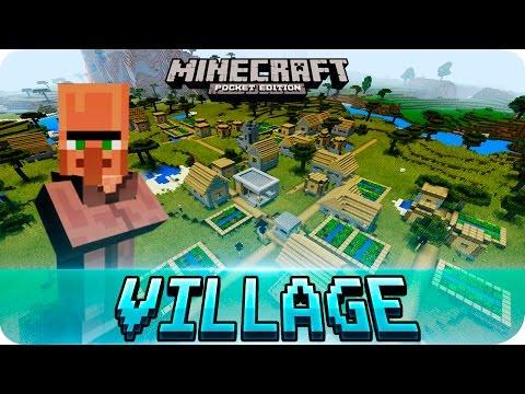 Minecraft PE Seeds - TOP 3 Village Seeds with Blacksmith // MCPE 1.2 - 0.12.0
