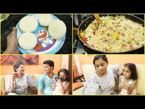 Indian Mom Making Doraemon inspired Rice Cakes for Daughter But She Refused to Eat - Lunch Routine