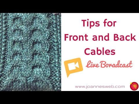 Knitting Cables- How To Knit Front and Back Cables