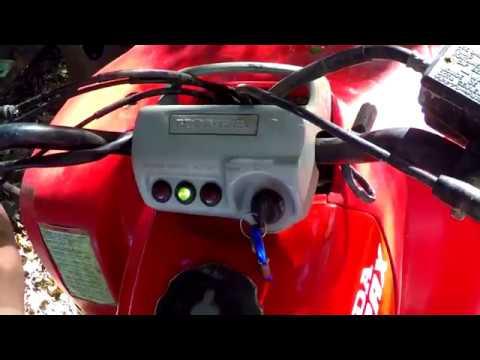 Honda 300 Fourtrax Start In Gear Mod