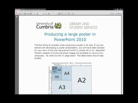 How to create a large poster using PowerPoint