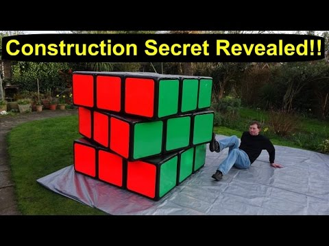 SECRET REVEALED! How I made the world's largest Rubik's Cube 3x3 puzzle. Construction by Tony Fisher