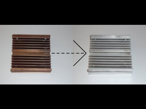 How to Turn Anodized Aluminum to Clean Aluminum - Scrapping Trick