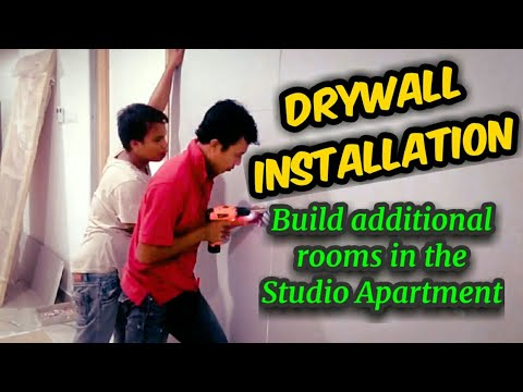 Gypsum Board Partition - Drywall installation: Build additional rooms in the studio apartment