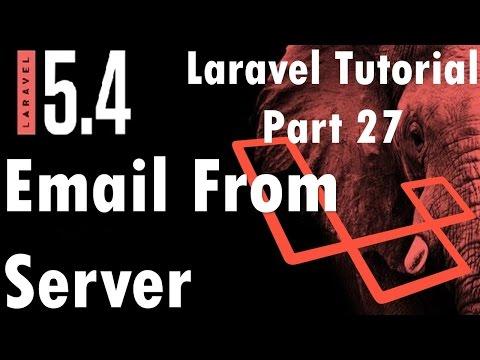 Laravel 5.4 Tutorial | Email From Server (Godaddy) #3  | Part 27 | Bitfumes