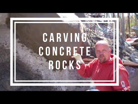 Carving Concrete Rocks