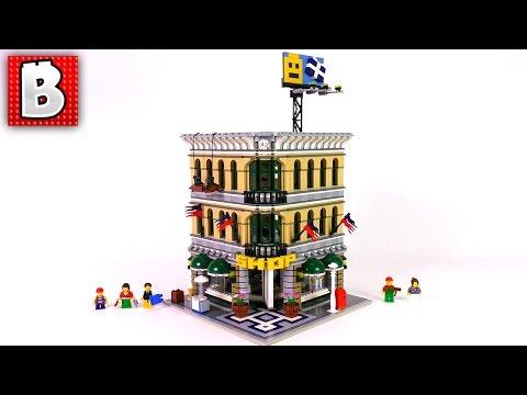 Big LEGO City Grand Emporium Addition | Set 10211 | Unbox Build Timelapse Review