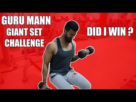 #GuruMannGiantSetChallenge Accepted | Nikhil Nautiyal Fitness
