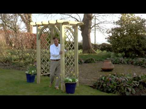 Zest 4 Leisure Horizon Arch Garden Wooden Pergola