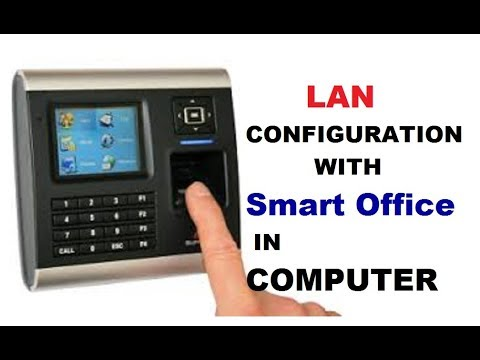 How to  lan configuration in biometric attendance machine with pc