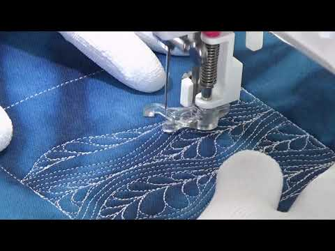 How to Free Motion Quilt Windy Feathers with Leah Day