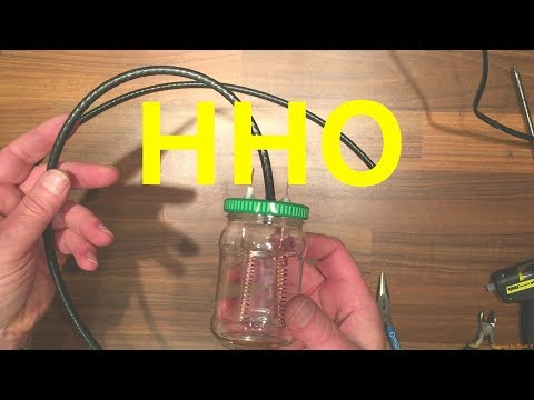 How to make a simple HHO gas generator at home Part 1