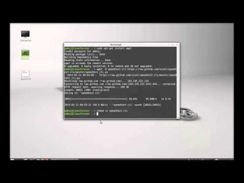 Check Internet Speed On Command in  Terminal on Linux Mint 17.1