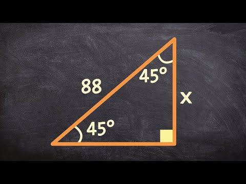 How to determine the legs of a 45 45 90 triangle when given the hypotenuse