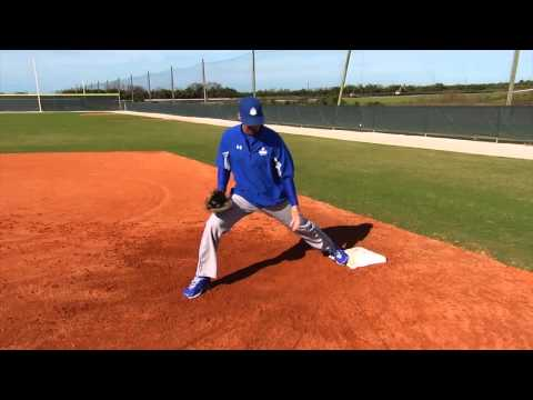 First Base Footwork Drills - Fundamentals of First Base Series by IMG Academy Baseball (2 of 4)