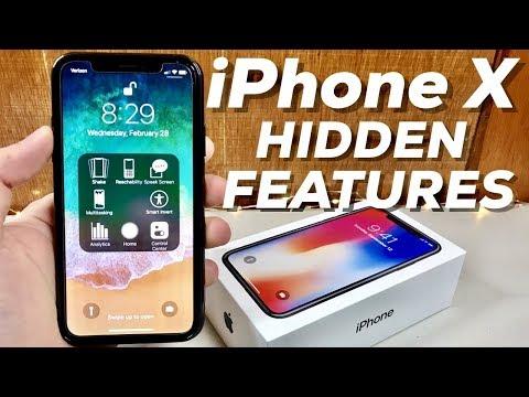 TOP 10 IPHONE X HIDDEN FEATURES! Dark Mode, Home Button, 4K, SOS, Quick Actions & More (4K)