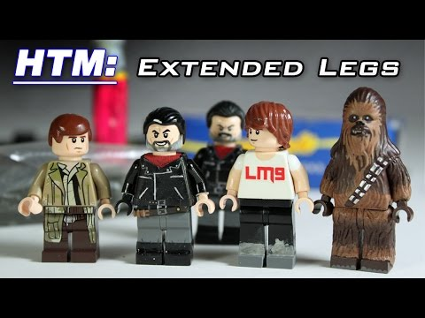 LEGO Customizing Tutorial: How to make Extended Legs