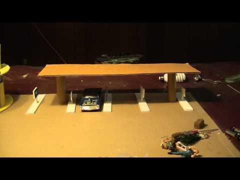 Car Hop diorama