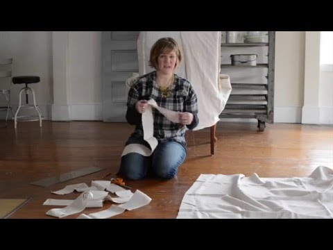 how to make a slipcover | part 5 | skirt, ties & cushion cover