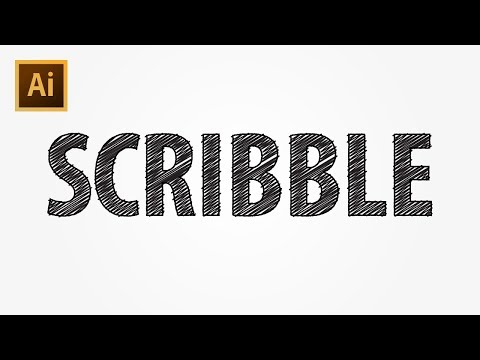 Sketch/Scribble Text Effect - Adobe Illustrator CC Tutorial