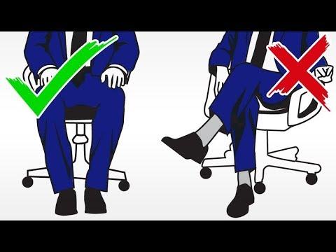 How Should Men Sit? Legs Open Or Closed | Crossed Vs Straight Leg Body Language Signals