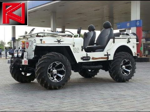 Modified Jeeps Mahindra Classic, Thar, Willys, Wrangler INDIAN Offroads 4x4 Custom Pics Compilation