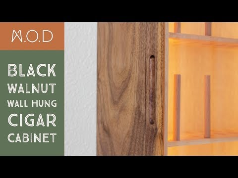 Mid-Century Modern Cigar Cabinet Wall Mount - DIY