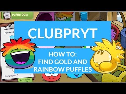 Club Penguin Reborn: Gold and Rainbow Puffles?!|ClubPRYT