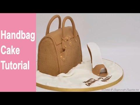 HANDBAG CAKE-: How to make a handbag cake tutorial by Busi Christian-Iwuagwu