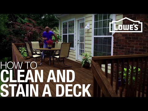 Washing, Sanding & Staining to Restore a Deck