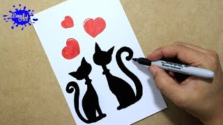 Como hacer una tarjeta de amor san valentin/ How to draw a love card / Gatos enamorados                                                                                                                     En este vídeo aprenderás como hacer postales de amor, tarjetas de amor para san valentin y fechas especiales de amor y amistad.  SUSCRIBETE GRATIS:   Youtube:https://www.youtube.com/channel/UCIZEjA3Mp23QE53w2i3KAbw?sub_confirmation=1 ............................................................................................................... SIGUENOS TAMBIEN:                                                                                                                   Pinteres: https://www.pinterest.com/creaartefacil/                             Twittear: https://twitter.com/creaartefacil                                                                                  Facebook: https://www.facebook.com/crea.arte.facil pagina: http://the-easy-art.blogspot.com/ pagina: http://easyart.over-blog.com/ ...............................................................................................................  MATERIALES:                                                                                                      -Hoja tamaño oficio (Opalina)       -Lápiz 6B         -Colores Prismacolors  Musica: biblioteca audio youtube                                                                                canción: Biblioteca youtube