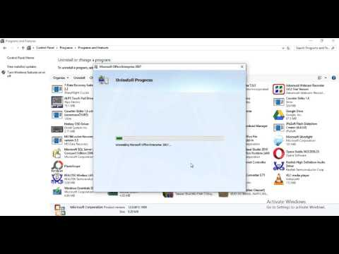 how to uninstall Microsoft Office in windows 10