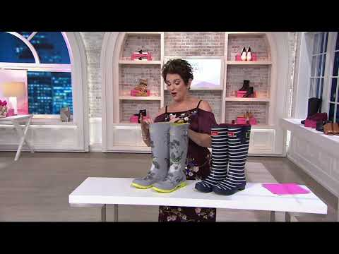 Joules Welly Printed Rain Boots on QVC