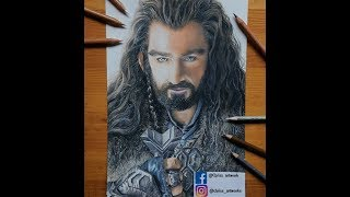 Lets Draw Thorin Oakenshield Hobbit  Speed Drawing