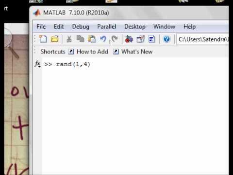 Matlab Basics: Tutorial - 18: How to generate Random Numbers in Matlab