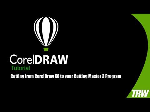 Export Corel Draw template to DAQIN film cutter master - Sticker