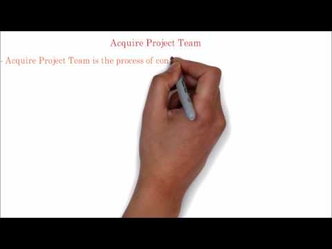 66. PMP Tutorial | Acquire project team process overview | ITTO,input,tools,techniques,output