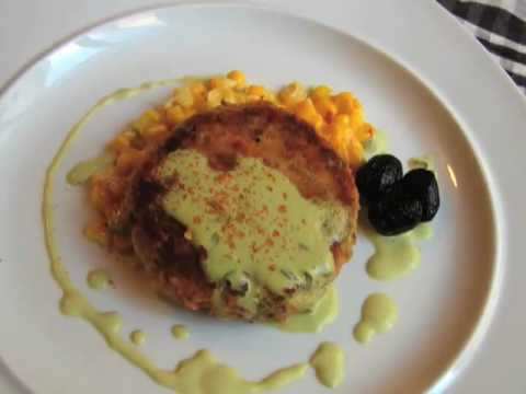 Salmon Cakes with Creamy Corn Relish