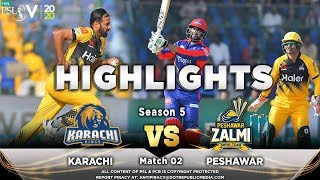Karachi Kings Vs Peshawar Zalmi Full Match Highlights Match 2 21 Feb 2020 HBL PSL 2020