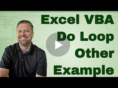 #7 VBA Project Use a Do Loop to popluated another sheet Video3
