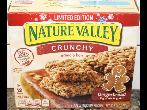 Nature Valley Gingerbread Crunchy Granola Bars Review