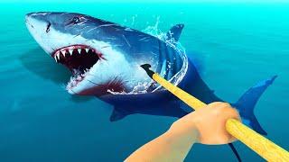 KILLING THE DANGEROUS SHARK! (Raft)